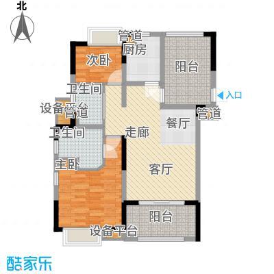 佳兆业珊瑚湾88.00㎡公寓A面积8800m户型