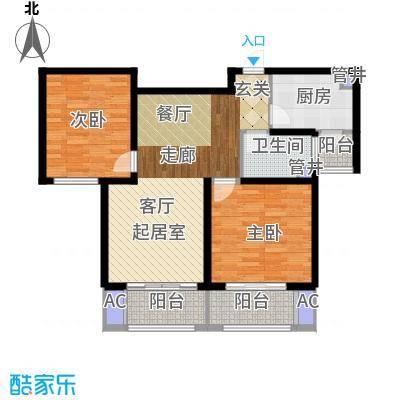 西上海名邸90.00㎡B3面积9000m户型