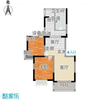 大华阳城七期阳城贵都93.38㎡B6面积9338m户型