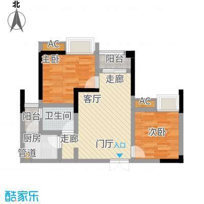 海怡天西城华府62.38㎡6号楼户型