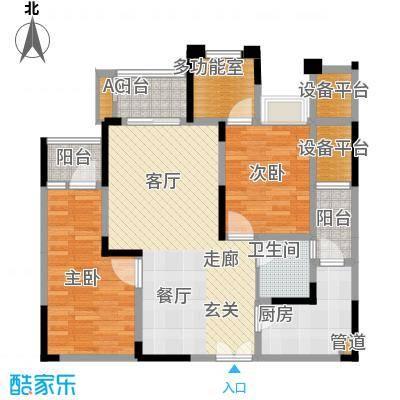 红星国际广场89.04㎡一号楼A1-7户型