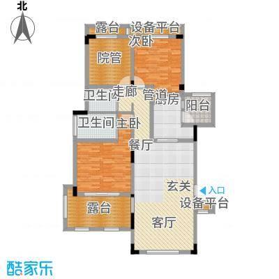 金科天湖小镇114.00㎡三期42/50/52/54号楼标准层D1户型