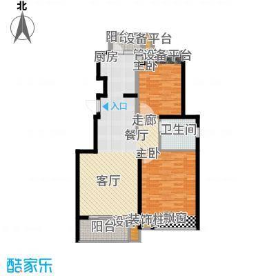 保利家园88.00㎡6#楼标准层C户面积8800m户型