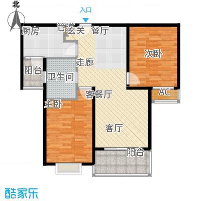 达安春之声花园87.47㎡上海面积8747m户型