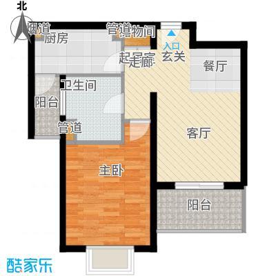 新天地荻泾花园61.38㎡C1面积6138m户型