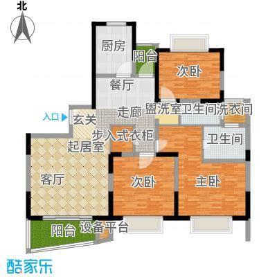 景明花园中环明珠138.85㎡上海中面积13885m户型