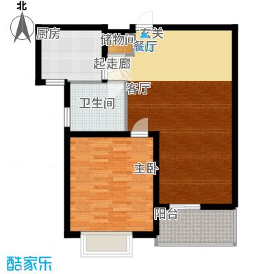 成亿宝盛家苑68.99㎡E2面积6899m户型