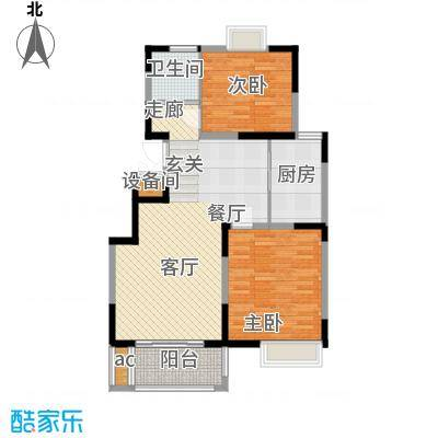 丽景翠庭87.35㎡e2型面积8735m户型