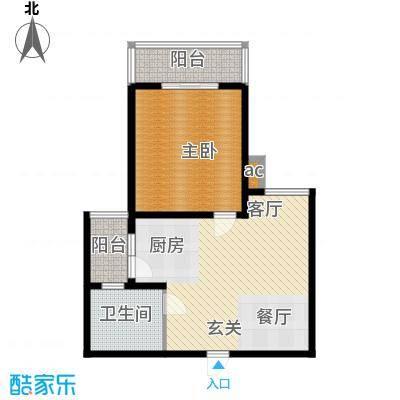 丽景翠庭71.00㎡面积7100m户型