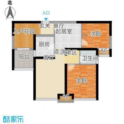 上海滩大宁城88.00㎡24/29/34号面积8800m户型