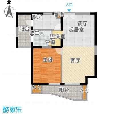 世博花园81.14㎡5号楼256-31标准面积8114m户型