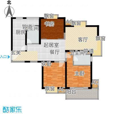 世博花园134.59㎡3号楼27号2面积13459m户型