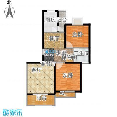保利金爵公寓87.00㎡B型面积8700m户型