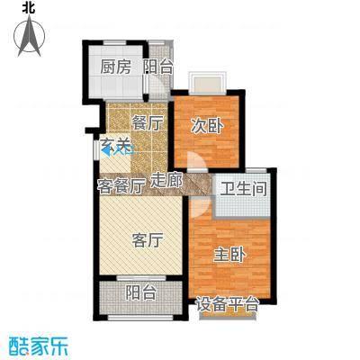 保利金爵公寓83.00㎡J型面积8300m户型