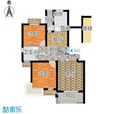 保利金爵公寓87.00㎡A型面积8700m户型