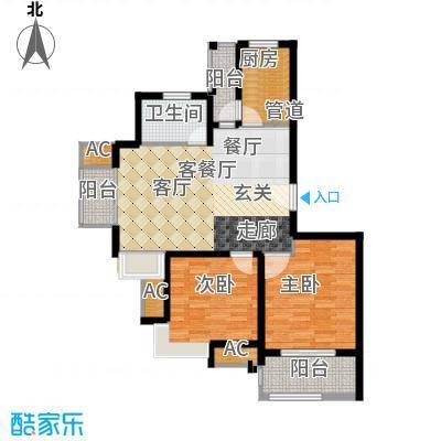 保利金爵公寓89.00㎡P型面积8900m户型
