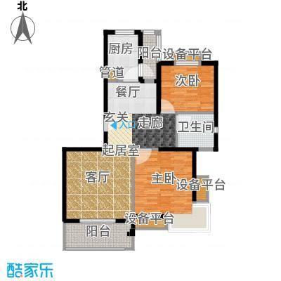 保利金爵公寓88.00㎡R型面积8800m户型