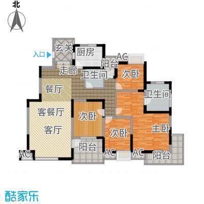 金地格林世界森林公馆175.00㎡上海户面积17500m户型