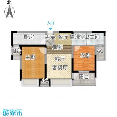 金地格林世界森林公馆87.00㎡上海户面积8700m户型
