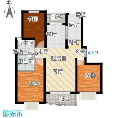 康桥月苑94.00㎡面积9400m户型