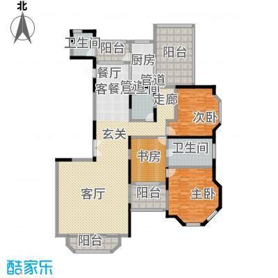 上海滩花园洋房223.00㎡裕龙花园面积22300m户型