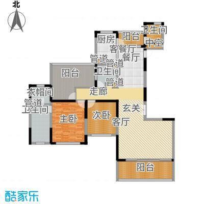 上海滩花园洋房181.00㎡裕龙花园面积18100m户型