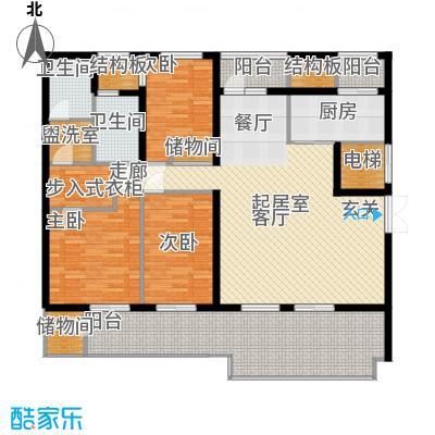 新浦江城160.00㎡上海面积16000m户型