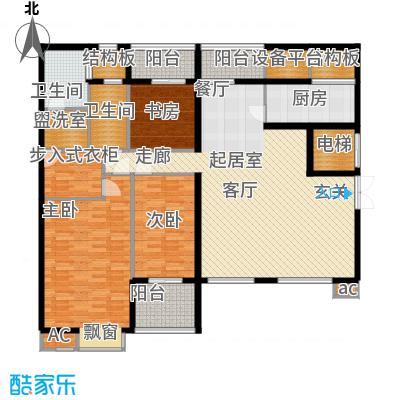 新浦江城170.00㎡上海面积17000m户型