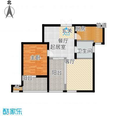 新浦江城76.00㎡上海面积7600m户型