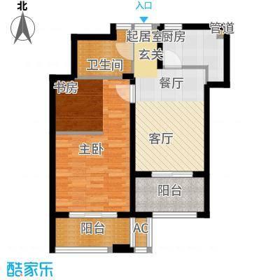 爱庐世纪新苑63.00㎡面积6300m户型