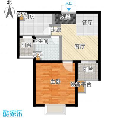 新梅淞南苑55.00㎡面积5500m户型