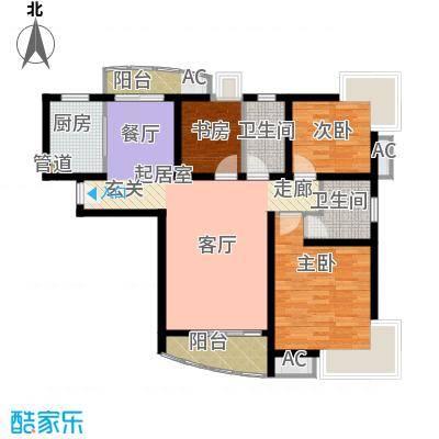 大华锦绣华城第16街区109.43㎡上面积10943m户型
