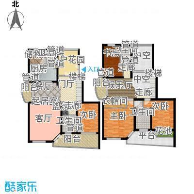 大华锦绣华城第16街区232.33㎡上面积23233m户型