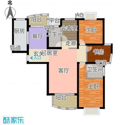 大华锦绣华城第16街区135.48㎡上面积13548m户型