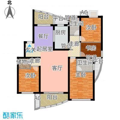 大华锦绣华城第16街区158.40㎡上面积15840m户型