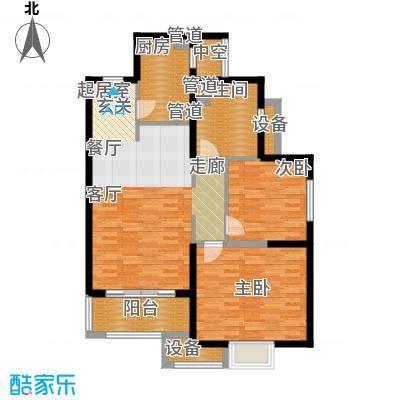 地杰国际城91.00㎡上海面积9100m户型