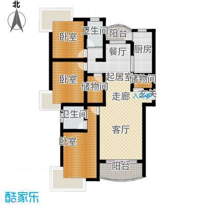 双佳翠庭102.00㎡金鹤新城面积10200m户型