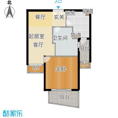 淡水湾花园上海1号楼B型户型