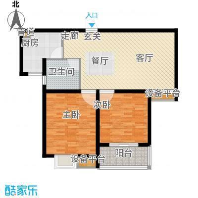 嘉宝都市港湾城91.00㎡上海面积9100m户型