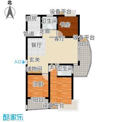 嘉宝都市港湾城144.14㎡一期房型面积14414m户型