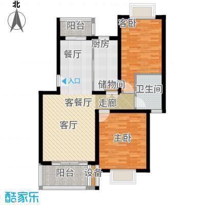 绿地南桥新苑92.00㎡上海B型面积9200m户型