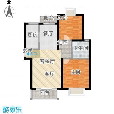 绿地南桥新苑87.00㎡上海面积8700m户型