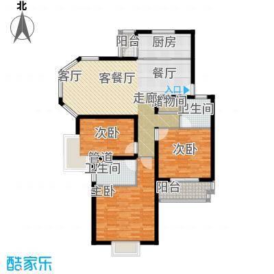 绿地南桥新苑111.00㎡上海H-1型面积11100m户型