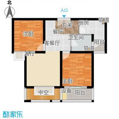 绿地南桥新苑87.53㎡上海(南桥老街)户面积8753m户型