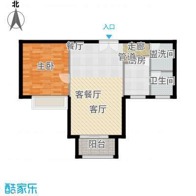 恒大翰城瀚锦苑70.00㎡1面积7000m户型