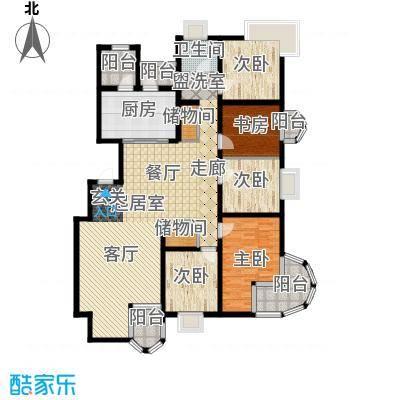 大上海国际花园172.29㎡上海三期(上海面积17229m户型