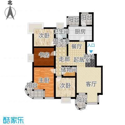 大上海国际花园161.43㎡上海三期(上海面积16143m户型