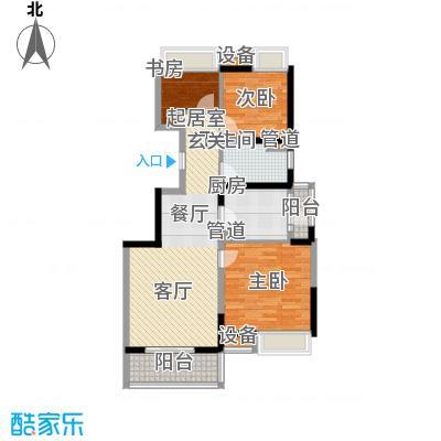 江桥万达广场89.02㎡33#01面积8902m户型