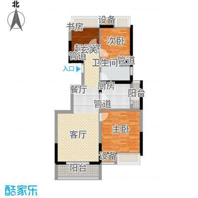 江桥万达广场88.84㎡21#01面积8884m户型