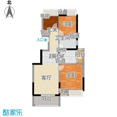 江桥万达广场88.97㎡13#01面积8897m户型